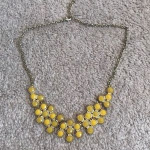 Beautiful gold colored and yellow necklace